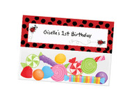 Red and Black Ladybug personalised party loot bags
