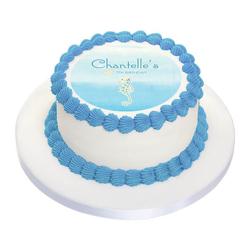 Seahorse Birthday Cake Icing