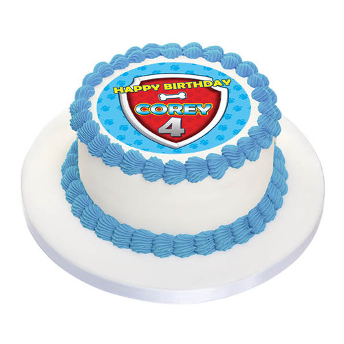 Paw Patrol Personalised Birthday Cake Icing sheet