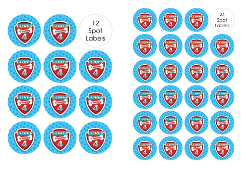 Paw Patrol Inspired Party Labels & Stickers and stickers