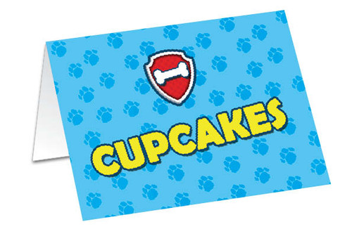 Paw Patrol Birthday Buffet Cards
