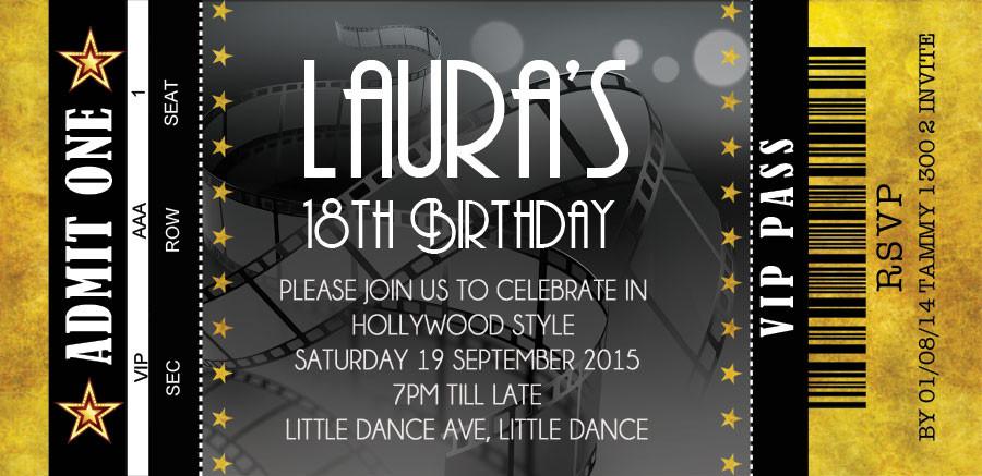 Grown Ups Birthday Invitations
