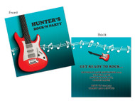 Electric guitar rock n roll party invitation