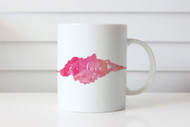 Pink Love Watercolour mug- Valentines or Mothers Day Gift Coffee Cup