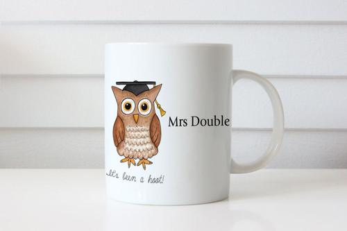 Teachers Gift Personalised bookworm wise owl mug