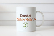 Chill'n-n-Grill'nPersonalised Coffee Mug or Name Mug - Barbecue or BBQ - Gift Coffee Cup With Name - Sent from Melbourne Australia