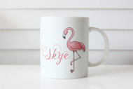 Pink Flamingo personalised coffee mug