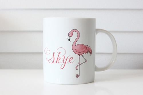 Pink Flamingo Personalised Coffee Mug or Name Mug - Flamingo - Gift Coffee Cup With Name - Sent from Melbourne Australia