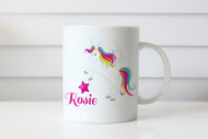 Unicorn personalised custom name coffee mugs - Name mug with Unicorn on it. Printed in Melbourne Australia