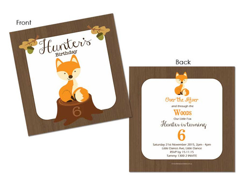 Little Fox Party Invitations