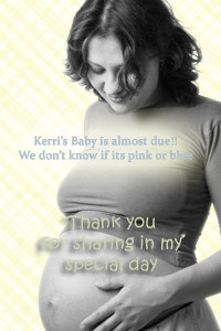 Gender neutral personalised baby shower invitations -