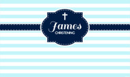 Christening Striped Baptism Custom Banners