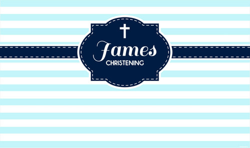Christening Striped Baptism Custom Banners