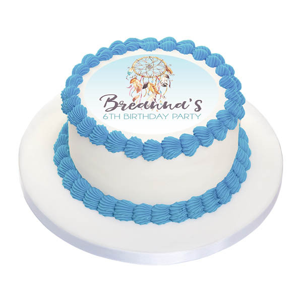 Dreamcatcher Personalised Birthday Cake Icing Sheet
