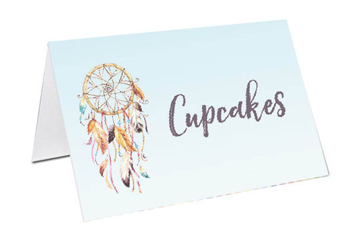 Dreamcatcher placecards, buffet cards and name cards