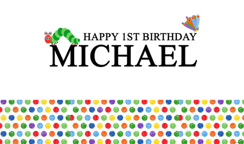 Hungry Caterpillar Birthday Party Banner
