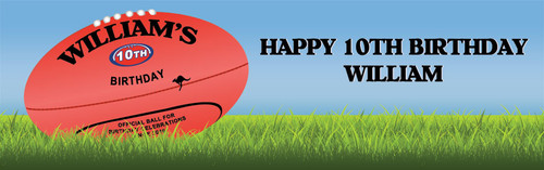 AFL Football Birthday Banner