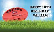 AFL Football Birthday Banner
