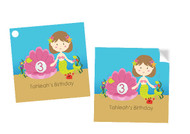 Square Mermaid under the sea custom stickers