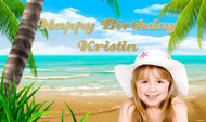 Hawaii Beach Themed Party Banners