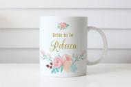 Peonie Bride to Be Personalised Mug