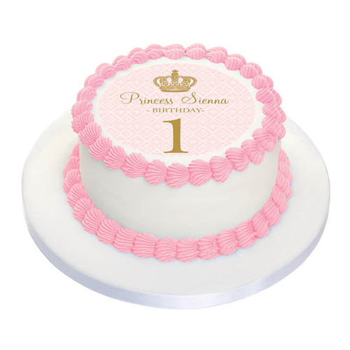 Princess Party Personalised Birthday Cake Icing