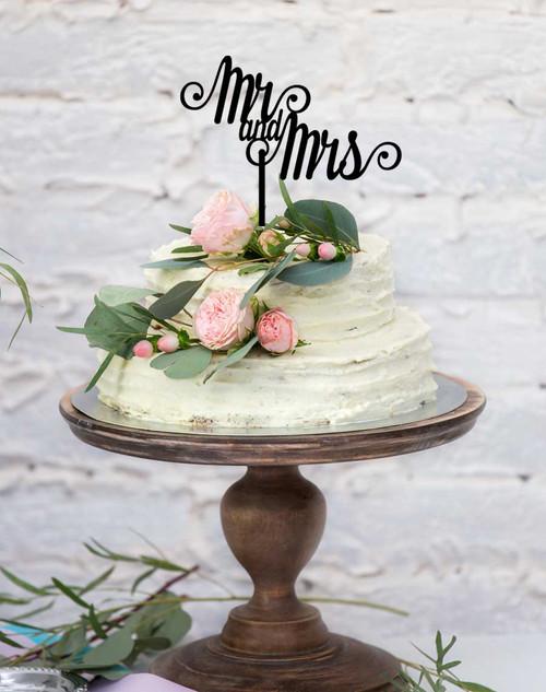 #1 Mr & Mrs Wedding Cake Topper - Wedding Cake Decoration - Made in Melbourne Australia