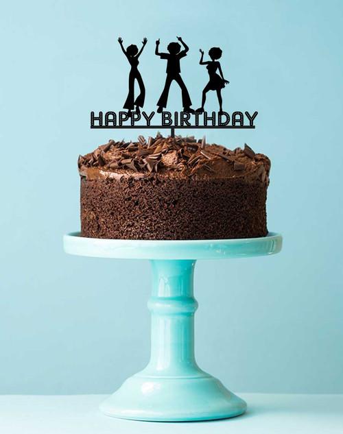 Disco Birthday Party Acrylic Cake Topper Decoration
