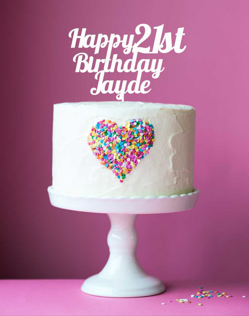 Custom Happy Birthday and Age Acrylic Cake Toppers are custom made to order.