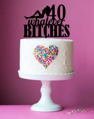 40th Birthday Naked Lady Silhouette Custom Cake Topper