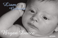 Custom Baptism or christening invitation made using a babies photo and black and white effect