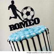 Custom name soccer player birthday cake topper Australia