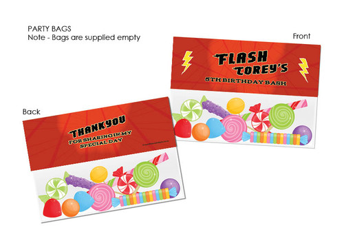 Flash Superhero Lollybag Toppers
