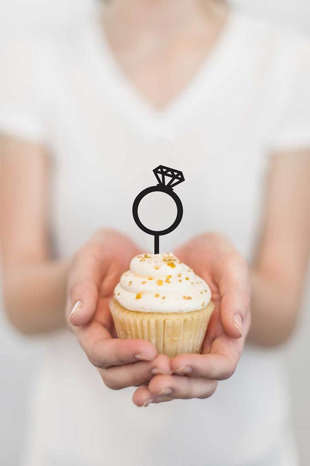 Engagement Ring Cupcake Toppers - laser cut Engagement Ring cupcake decorations - laser cut in Melbourne Australia