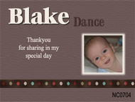 Affordable christening thank you photo cards