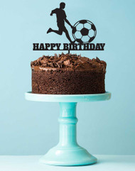 Soccer Themed Happy Birthday Cake Topper - Soccer Happy Birthday Cake Decorations