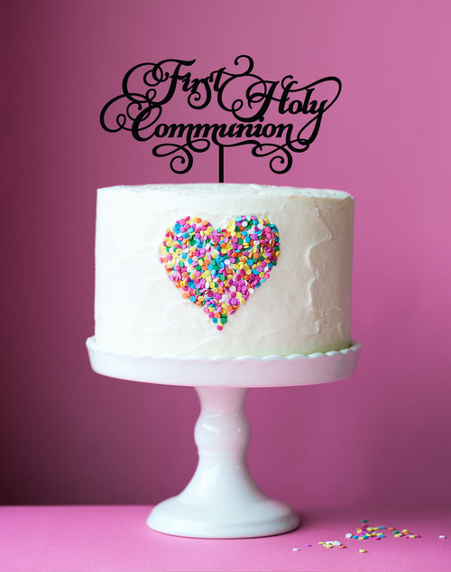 First Holy Communion Cake Topper - 1st Holy Communion Cake Decoration - Laser cut in Melbourne