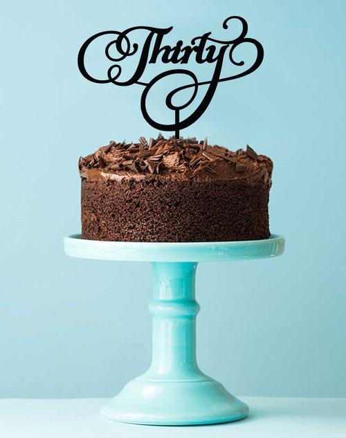 Thirty birthday cake topper - 30th birthday cake decoration