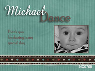 Custom photo invitation for a baptism