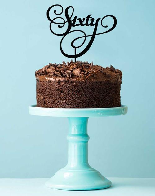 Sixtieth Birthday Cake Topper 60th Cake Decoration