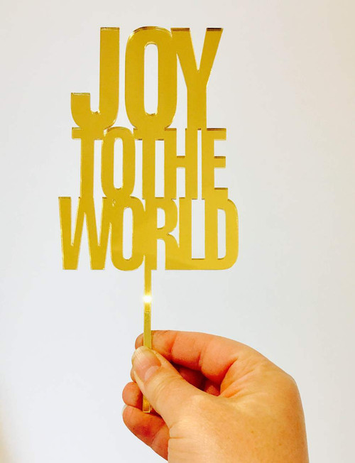 Joy to the World Cake Topper