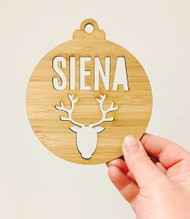 Reindeer with name christmas decoration