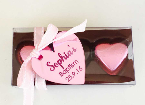 Mirror Engraved Heart gift tags