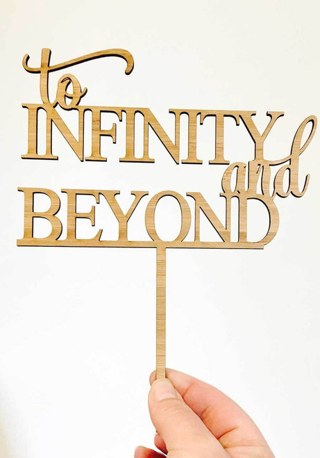 To Infinity and Beyond cake topper - Romantic Buzz Lightyear themed Wedding and Engagement cake decoration