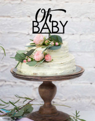 oh baby - baby shower cake topper. Laser cut cake decoration.