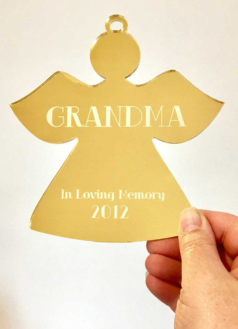 Memory Angel Decoration - Custom Christmas Angel Decoration with Personalised Message - In Memoriam