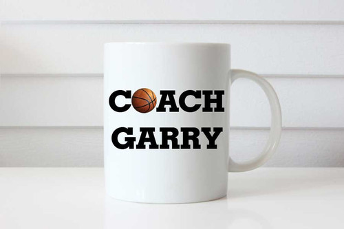 Basketball Coach Gift Personalised Coffee Mug - Basketball Coach Custom Gift Coffee Cup