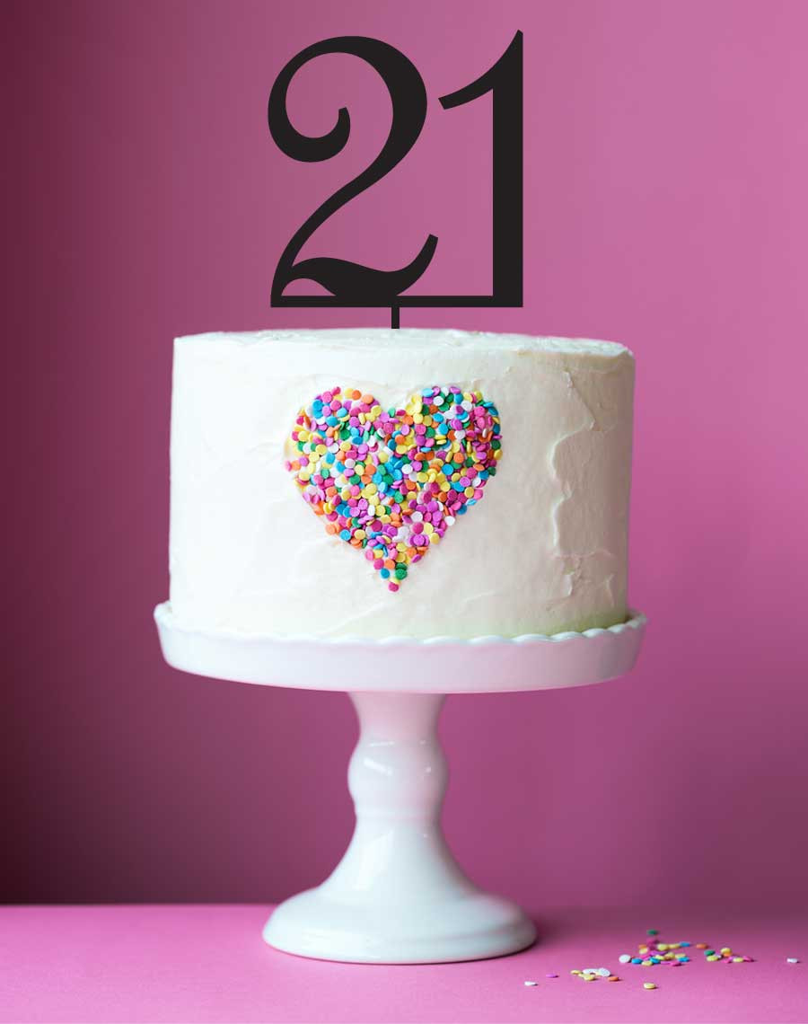 21 Birthday Cake Topper