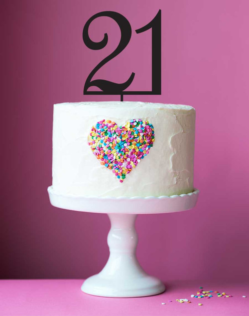 Number 21 cake topper - 21st birthday cake decoration - Laser cut - Made in Australia