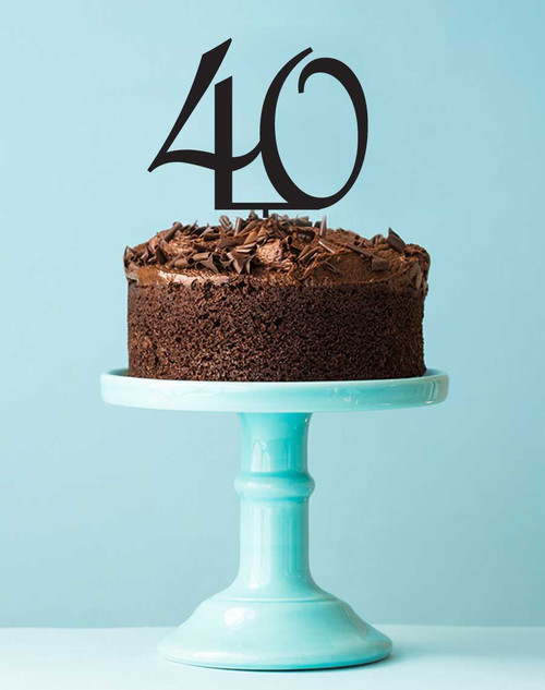 Number 40 cake topper - 40th birthday cake decoration - Laser cut - Made in Australia